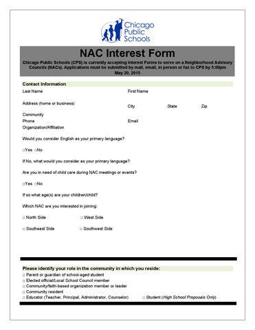 NAC Interest Form by Tim Furman - issuu