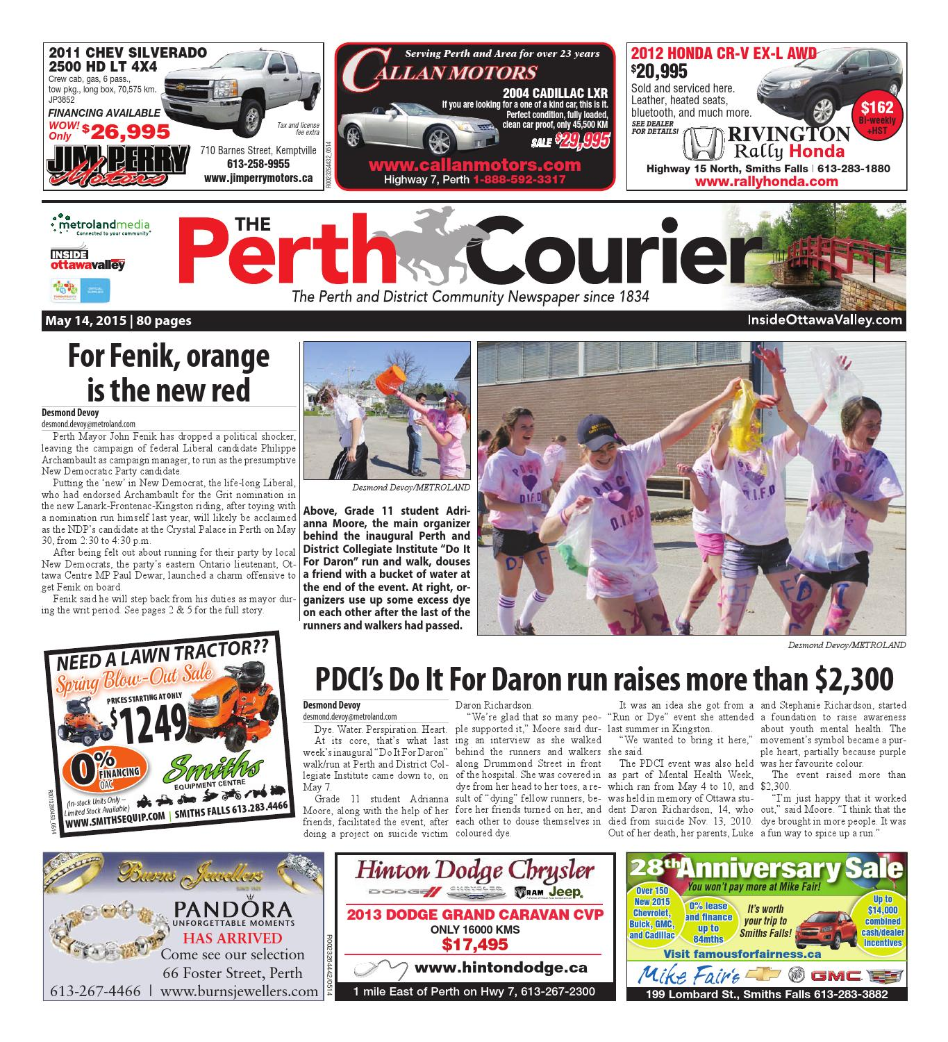 Perth051415 by metroland east the perth courier issuu fandeluxe Gallery
