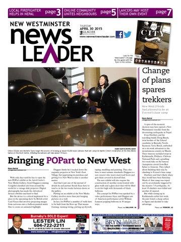 New Westminster NewsLeader April 30 2015