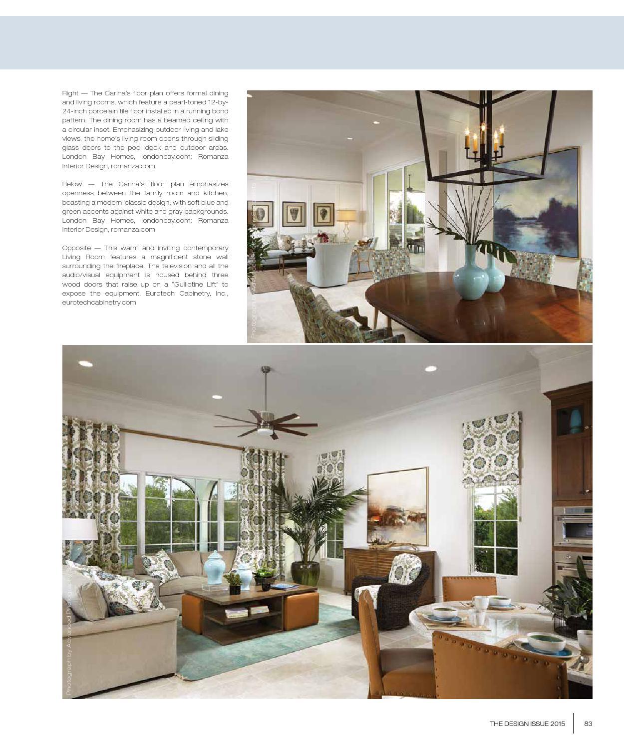 Home & Design Magazine   Design Issue 2015   Suncoast Florida Edition by Jennifer Evans - issuu