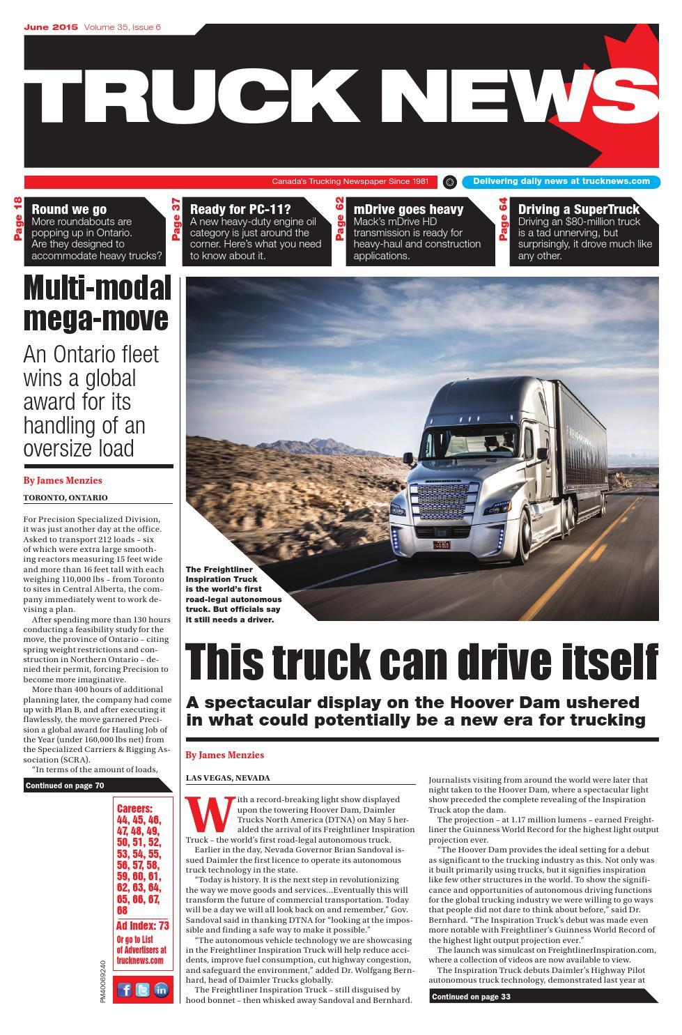 Truck News June 2015 by Annex-Newcom LP - issuu