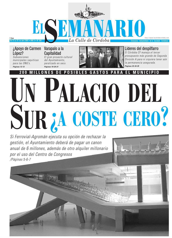 El Semanario La Calle De C Rdoba N 386 By El Semanario La Calle  # Muebles Bailon Peligros