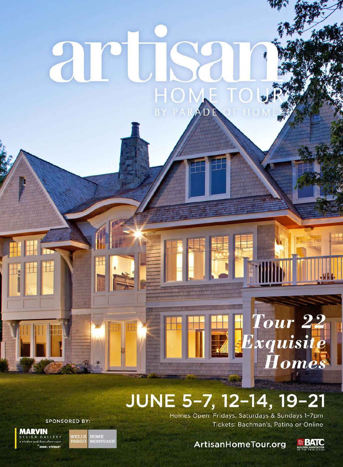 artisan home tour by parade of homes 2015 guide book by batc issuu