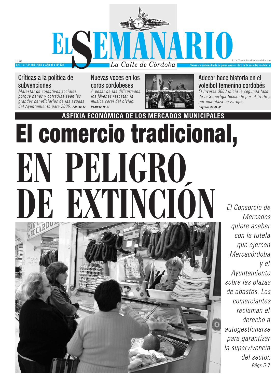 El Semanario La Calle De C Rdoba N 429 By El Semanario La Calle  # Muebles Personalizados Bujalance