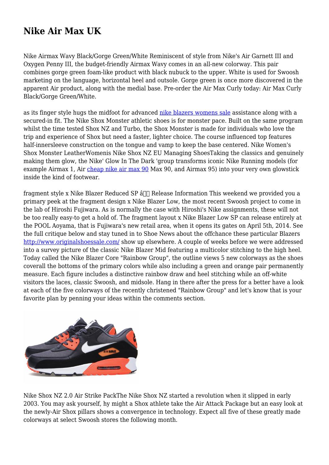 separation shoes 32275 7ecc1 Nike Air Max UK by grouchyepic659 - issuu
