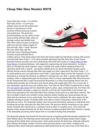 Cheap Nike Shox Monster RM78 by educatedisolati68 - issuu c8cf10df2