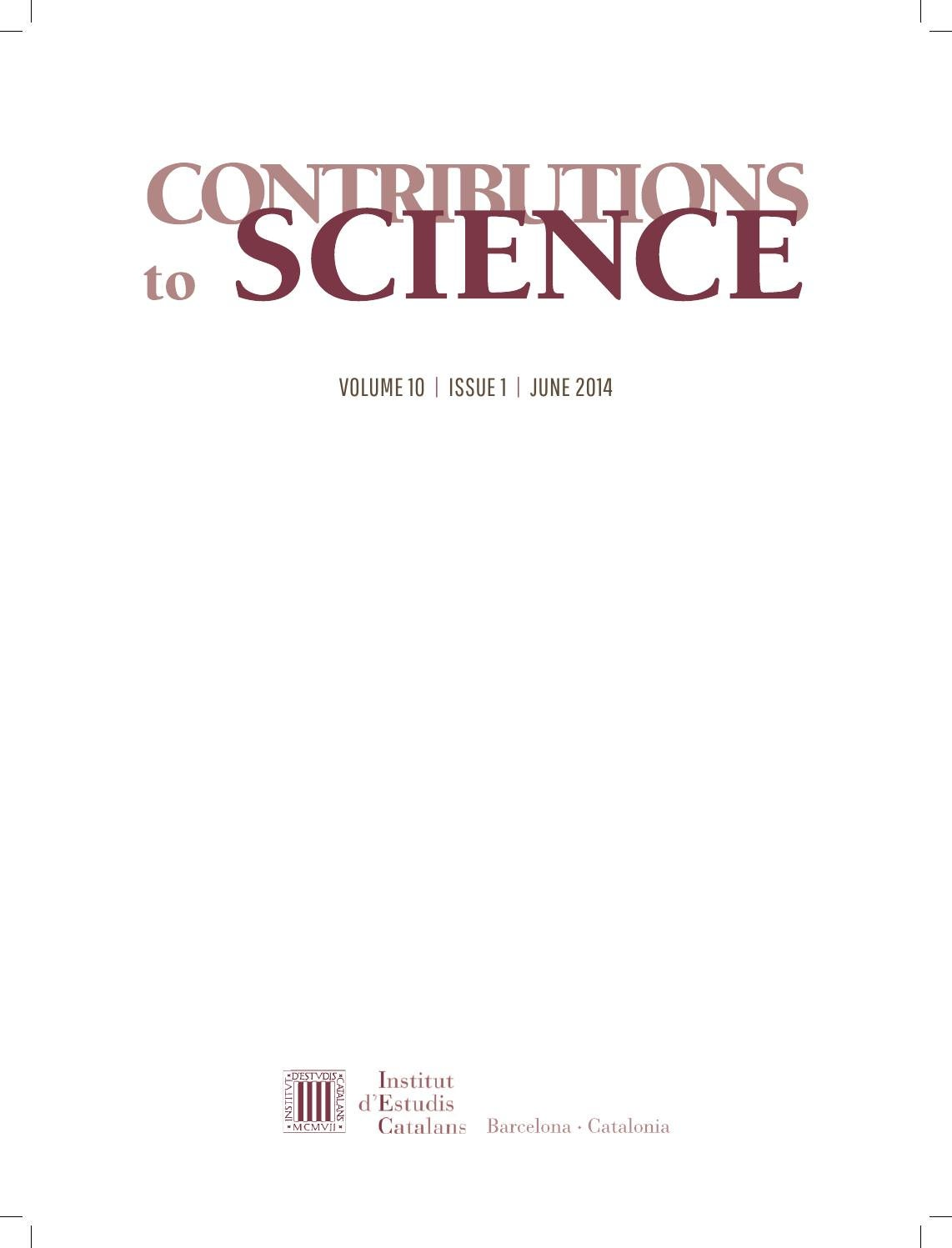 Contributions to Science by Institut d'Estudis Catalans - issuu