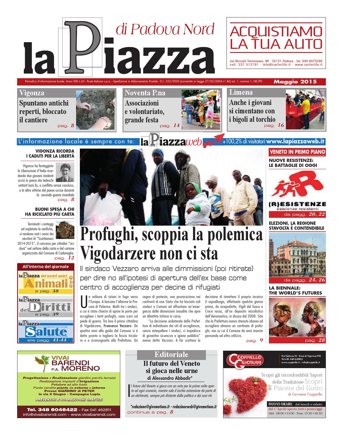 Padova nord magg2015 n65 by lapiazza give emotions - issuu bff9cd32dc72