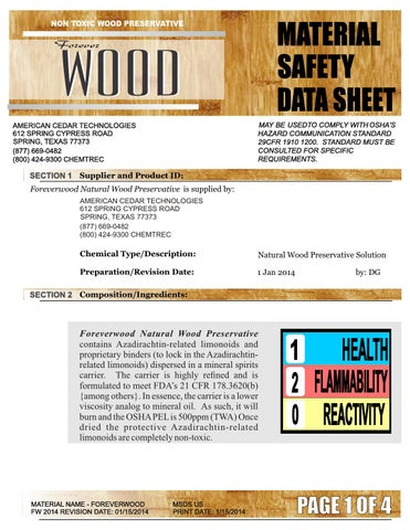 2015 MSDS ForeverWood 1 by Charlie Tuft - issuu