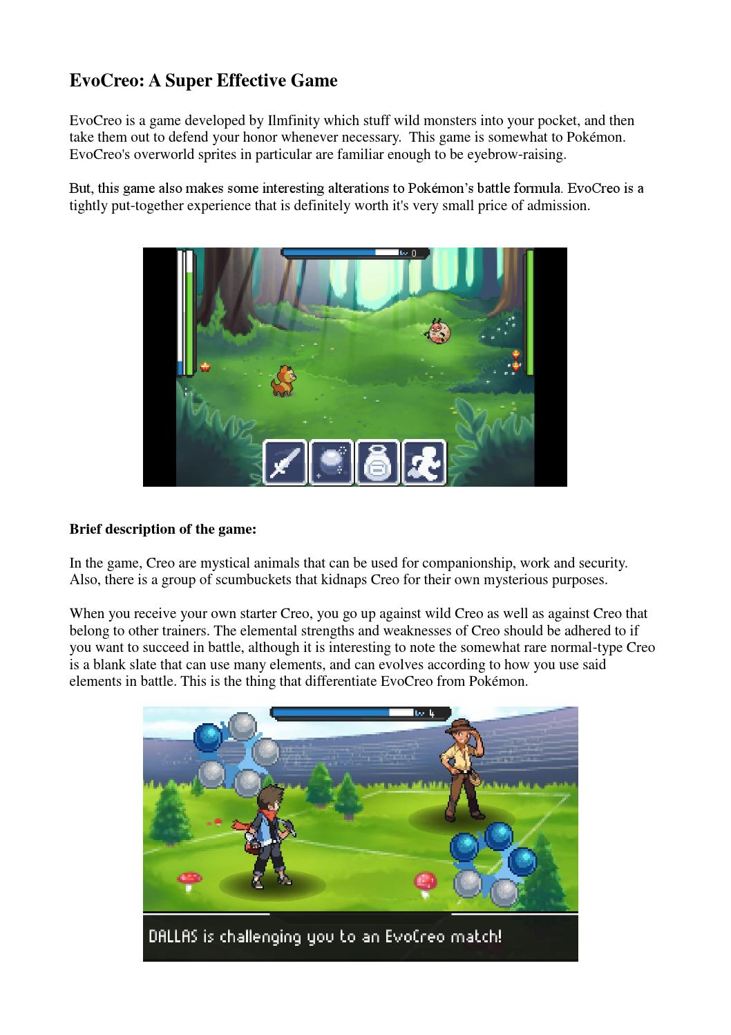 Evocreo a super effective game by thebestappgames - issuu