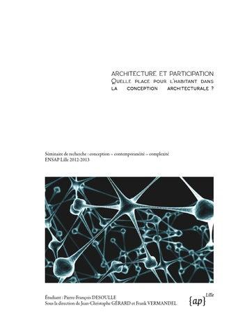 Architecture Et Participation Quelle Place Pour Lhabitant Dans La