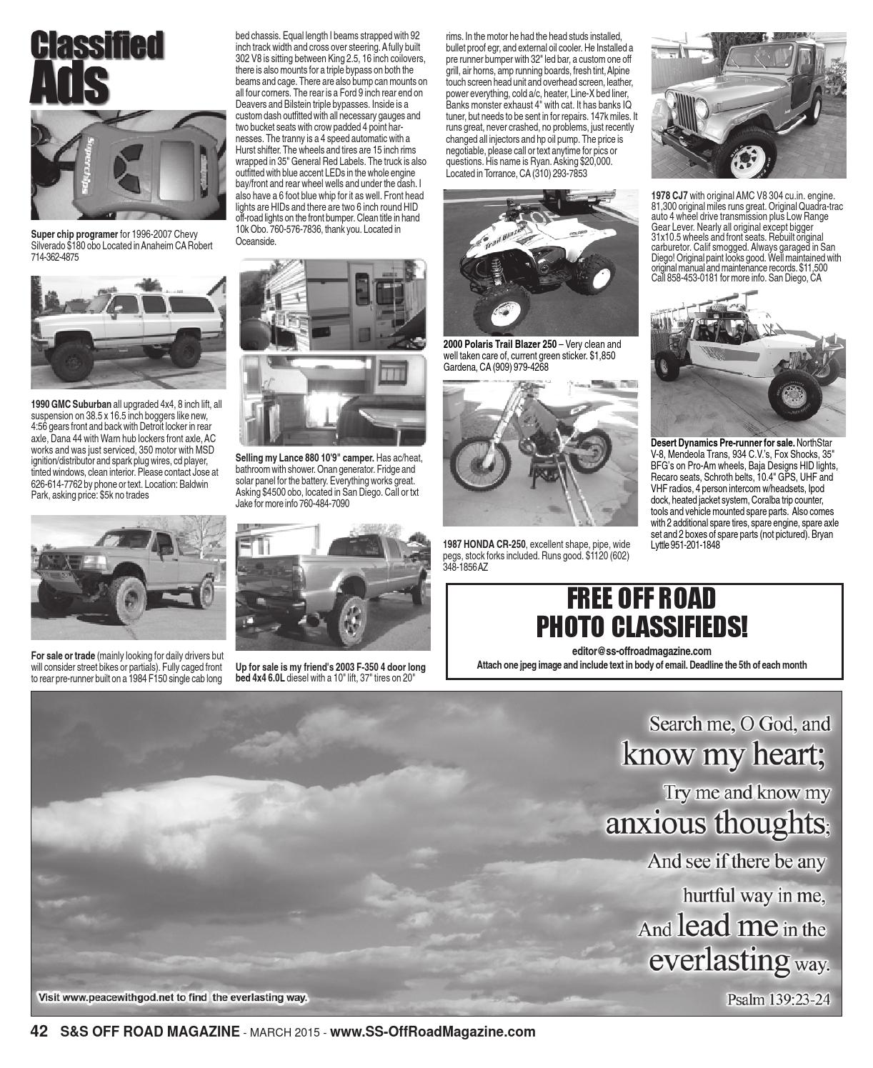 S&S Off Road Magazine March 2015 by S&S Off Road Magazine - issuu