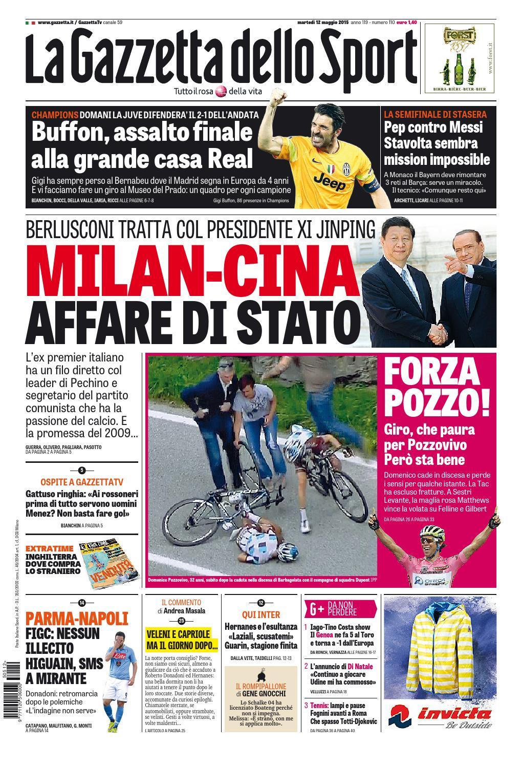 La Gazzetta dello Sport (05 - 12 - 2015) by Nguyen Duc Thinh - issuu 65b53a5d5dde