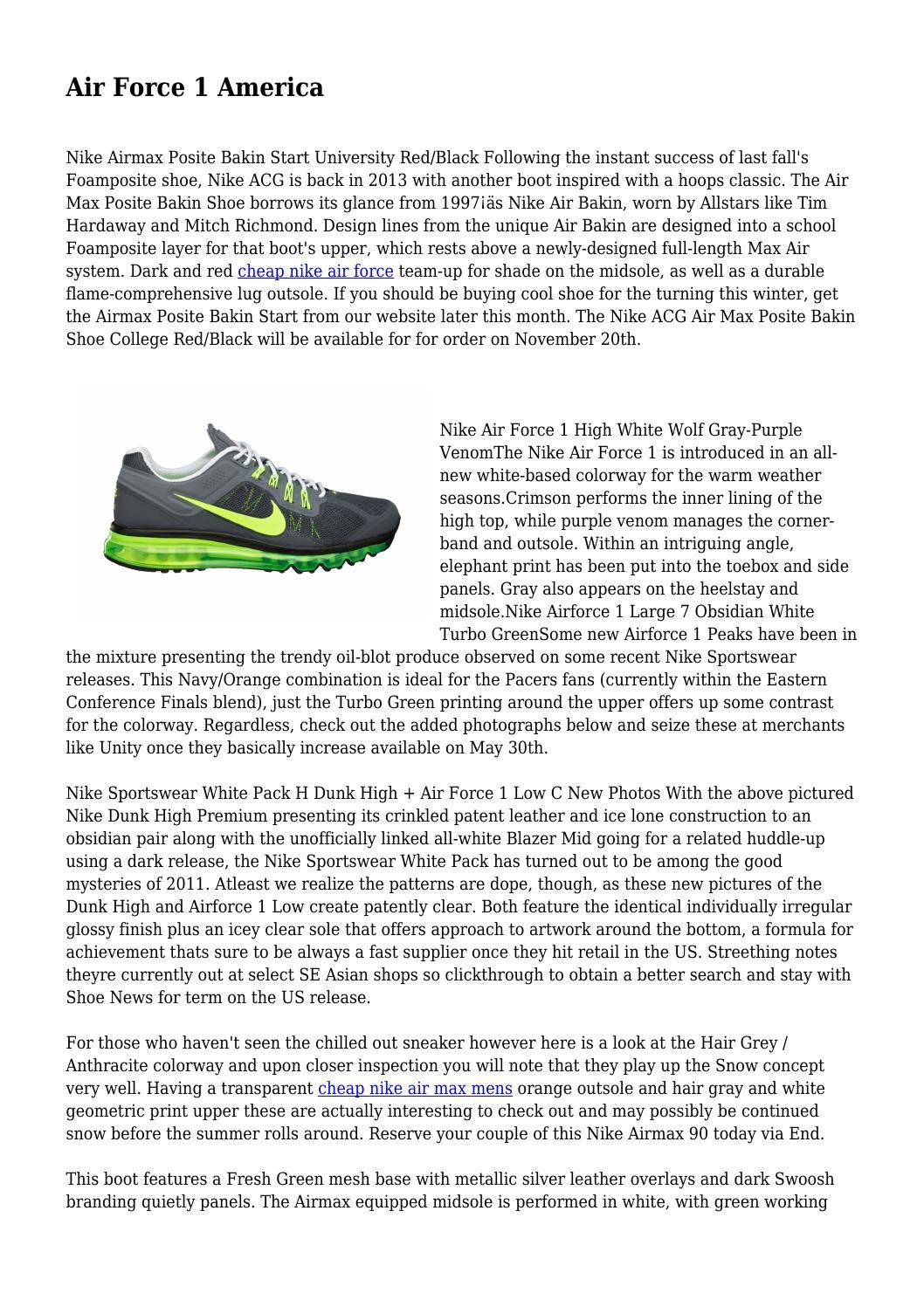 Nike Air Force 1 High ObsidianWhite Turbo Green | Sole