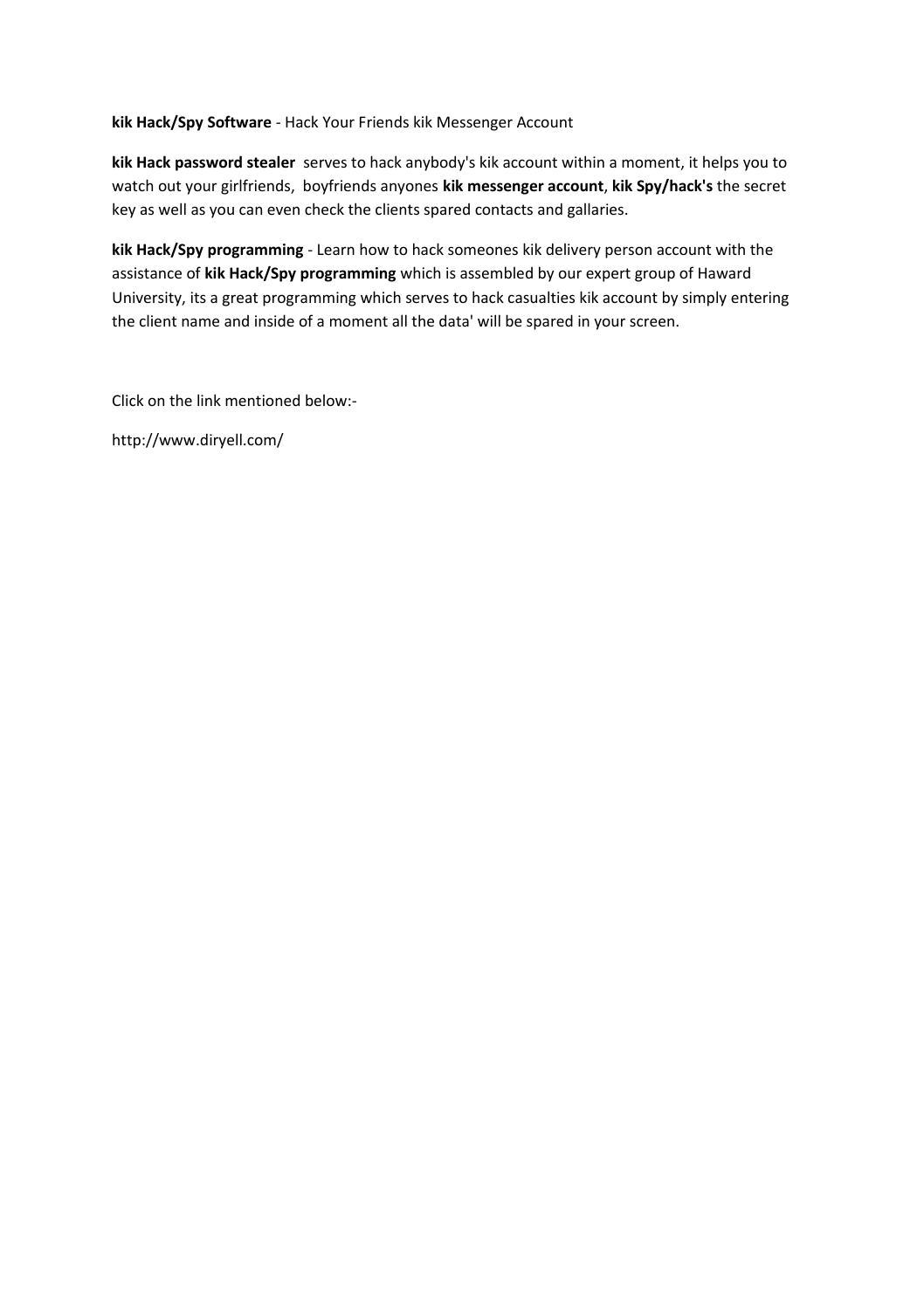 Kik hack software by kikhacksoftware - issuu