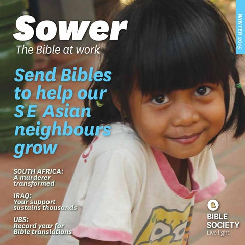 Sower - Winter 2015 by Bible Society Australia - issuu
