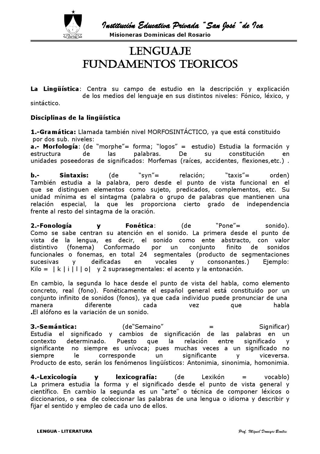 Lengualiteratura by Miguel Ángel Donayre Benites - issuu