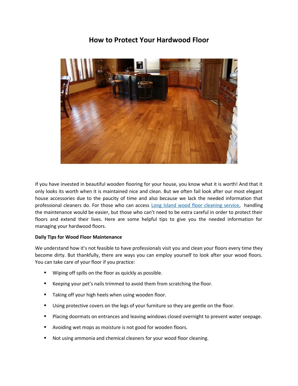 How To Protect Your Hardwood Floor By