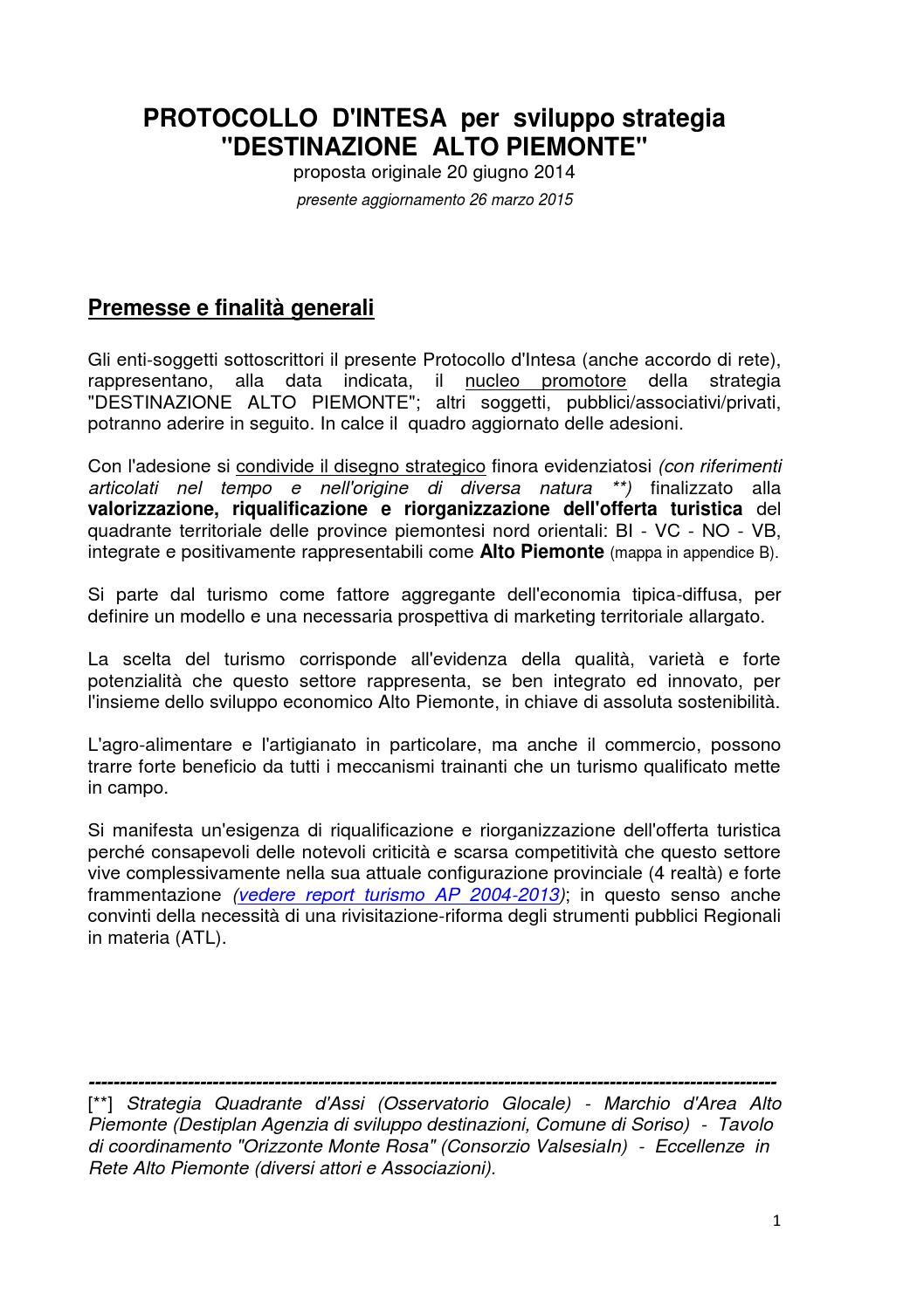 Protocollo d'Intesa AP by Destinazione Alto Piemonte - issuu