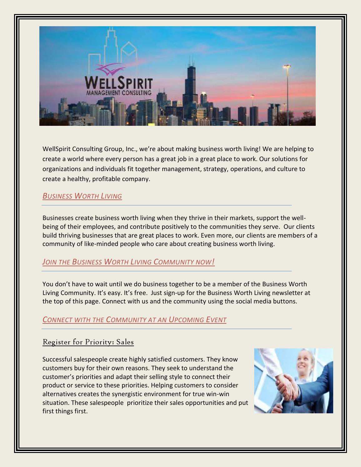 Business Worth Living By Wellspiritconsulting Issuu