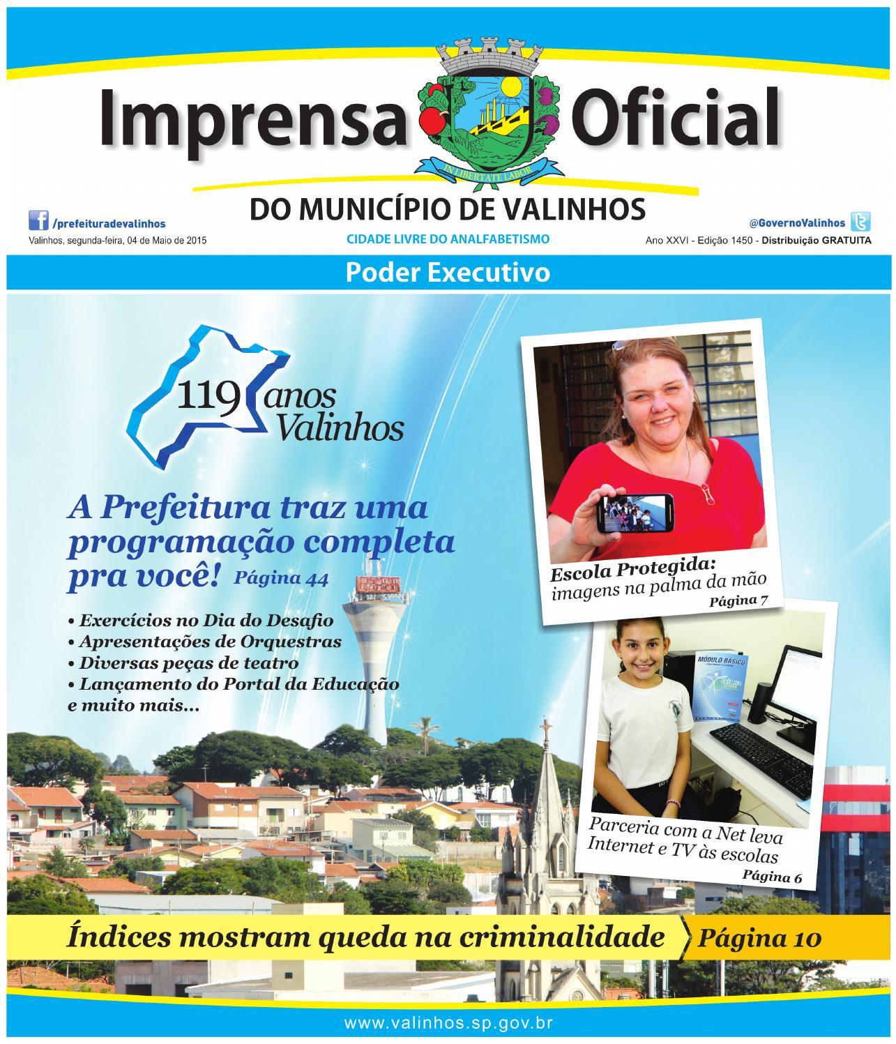 8cc1b7d522 Imprensa Oficial do município de Valinhos - Edição 1450 by Prefeitura de  Valinhos - issuu