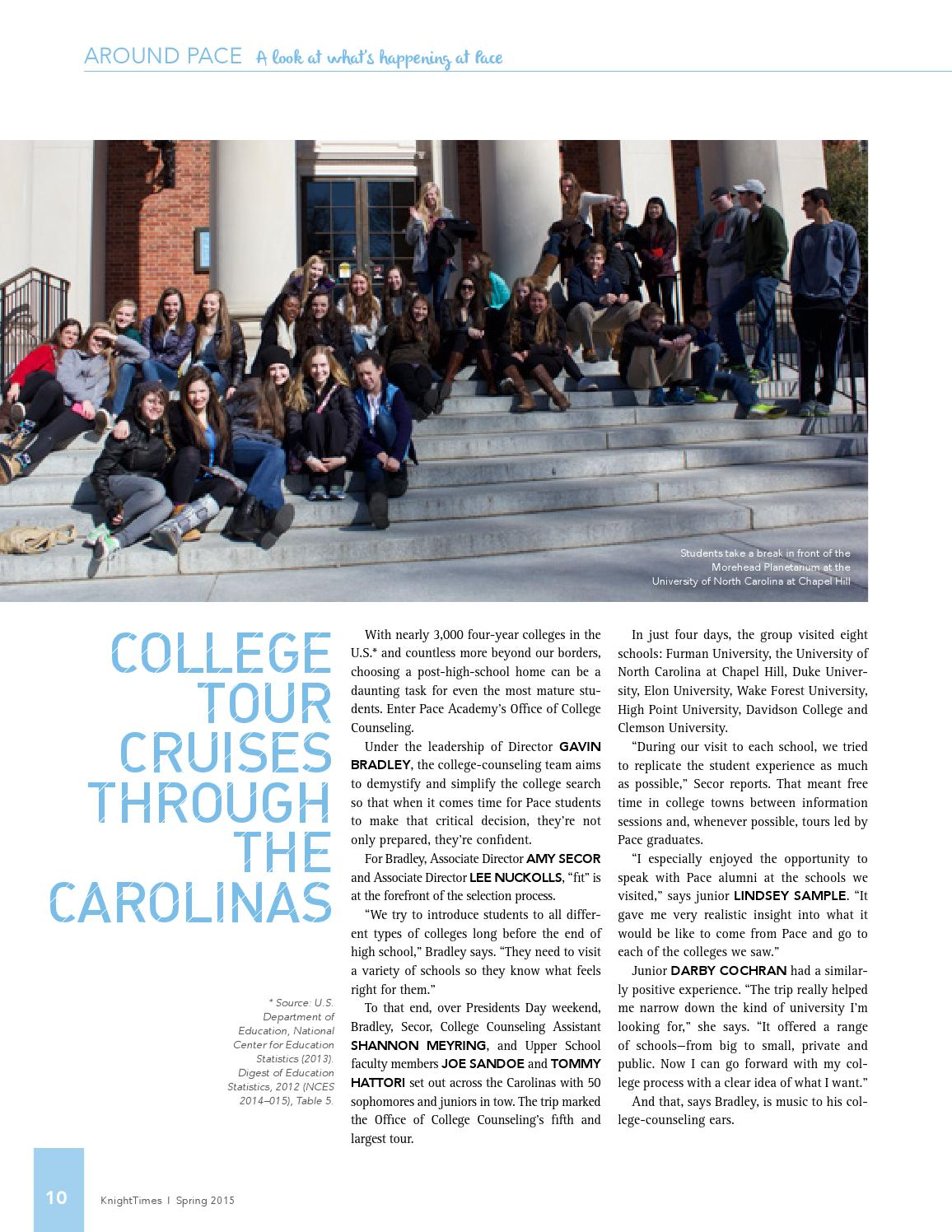 KnightTimes Spring 2015 by Pace Academy - issuu