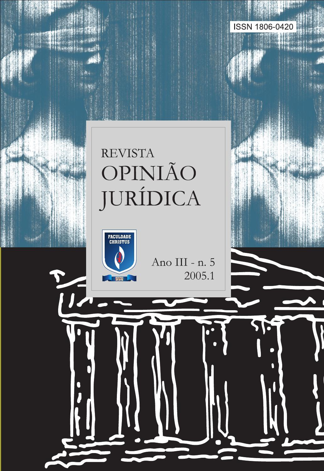db0ff4133 Revista opinião jurídica 05 by Unichristus - issuu