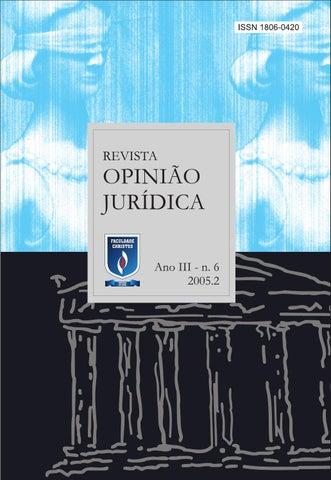 e356a94a427 Revista opinião jurídica 06 by Unichristus - issuu