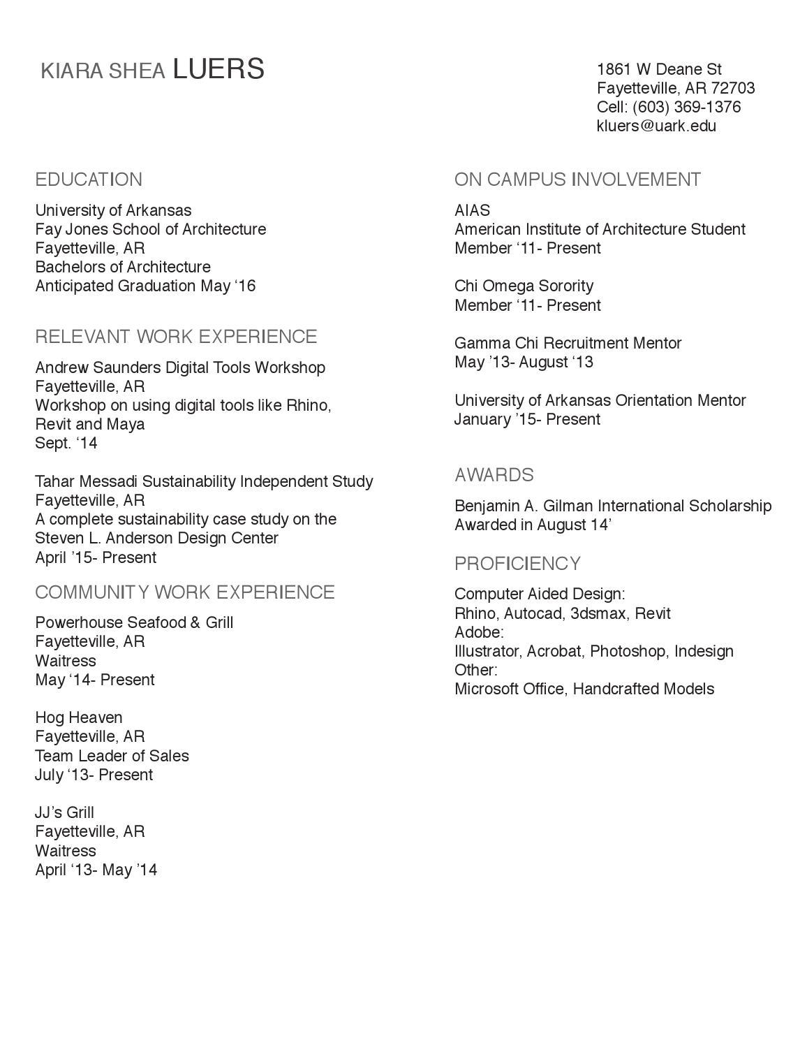 Resume Center Uark. u of a cdc uark cdc twitter. resume ann kyle ...