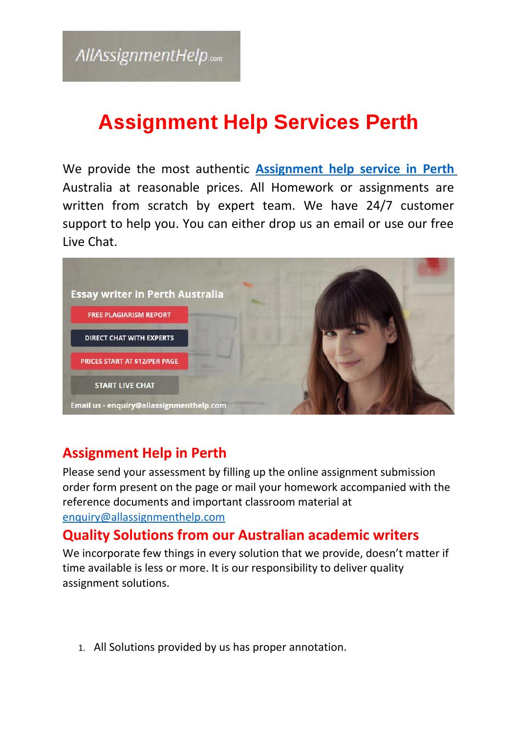 Assignment helpers perth