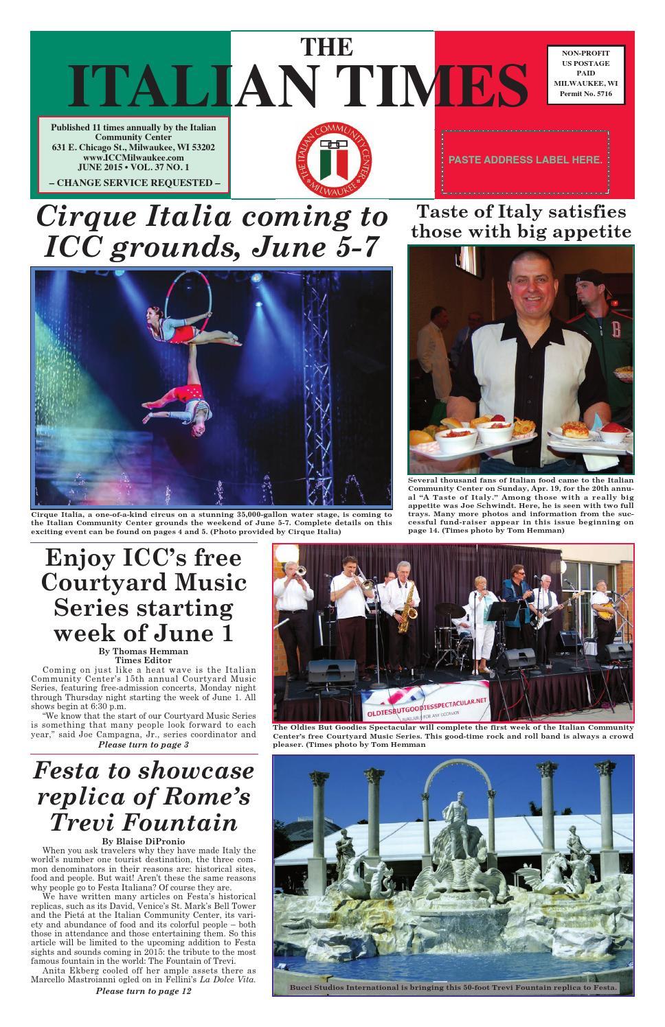 June 2015 online by Italian Community Center - issuu