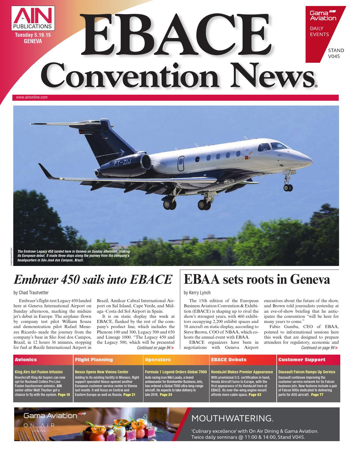 Ebace Convention News 05 19 15 By Aviation International Issuu Wiring Diagram Symbols Embraer