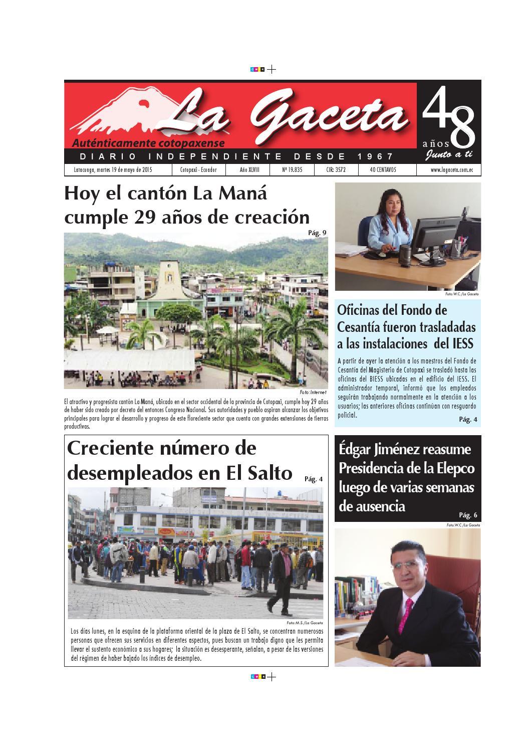 La Gaceta 19 mayo 2015 by Diario La Gaceta - issuu