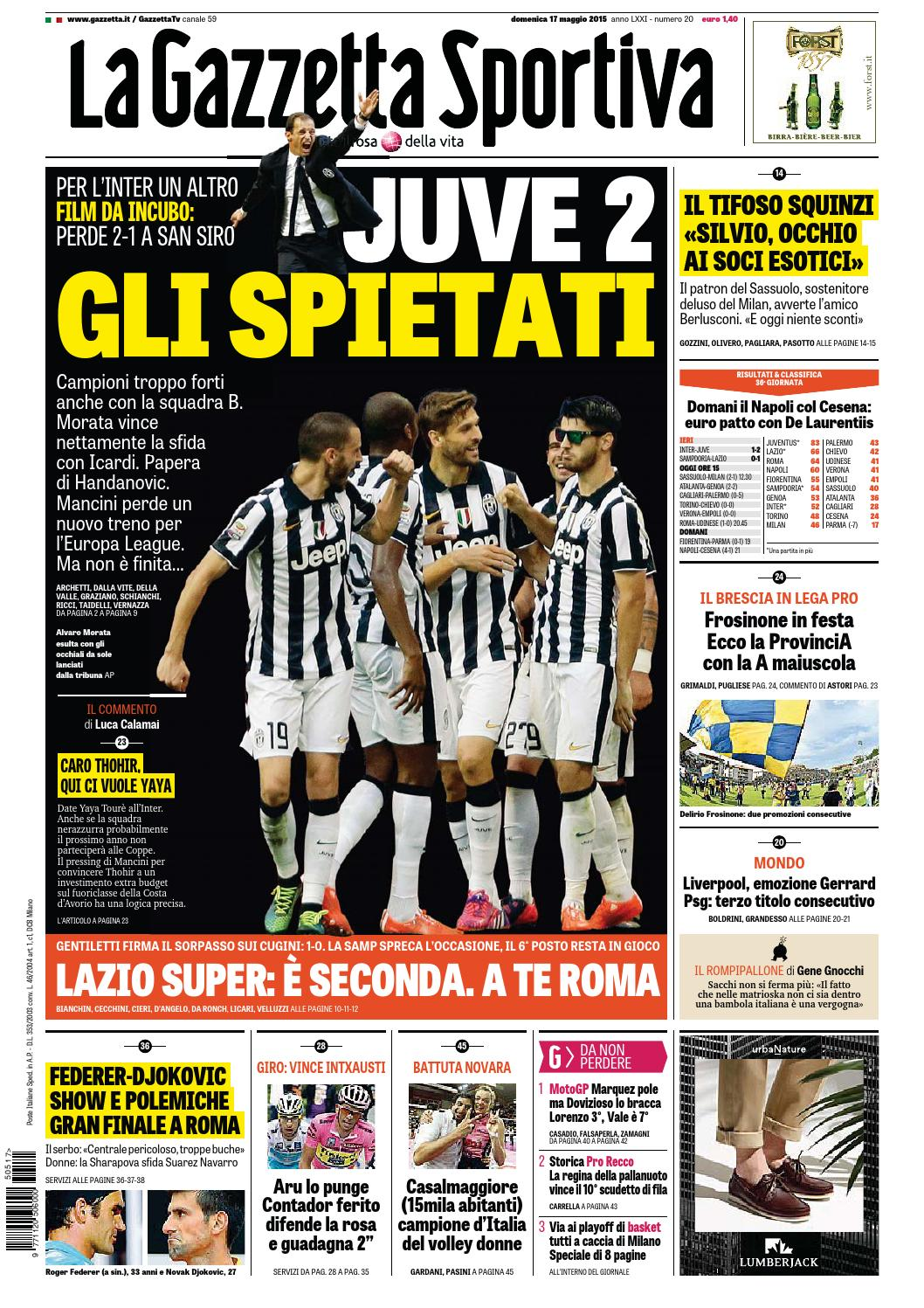 La Gazzetta dello Sport (05-17-2015) by Nguyen Duc Thinh - issuu 6b6ee2da529e