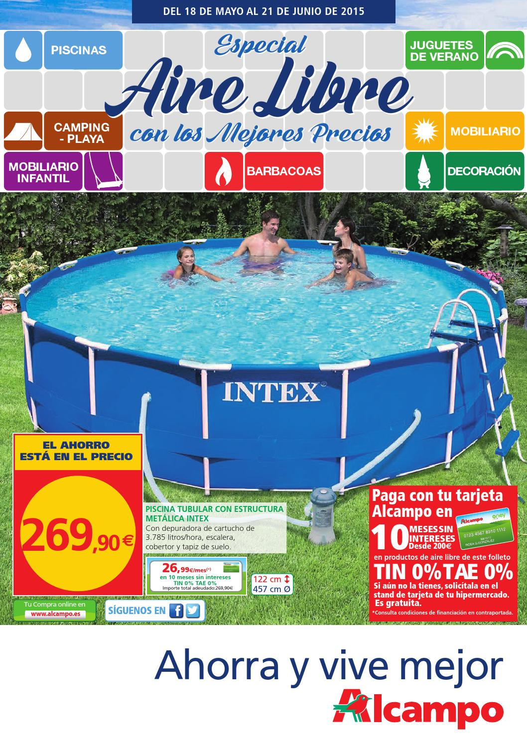 Especial aire libre outdoor folleto nacional by for Piscinas alcampo online