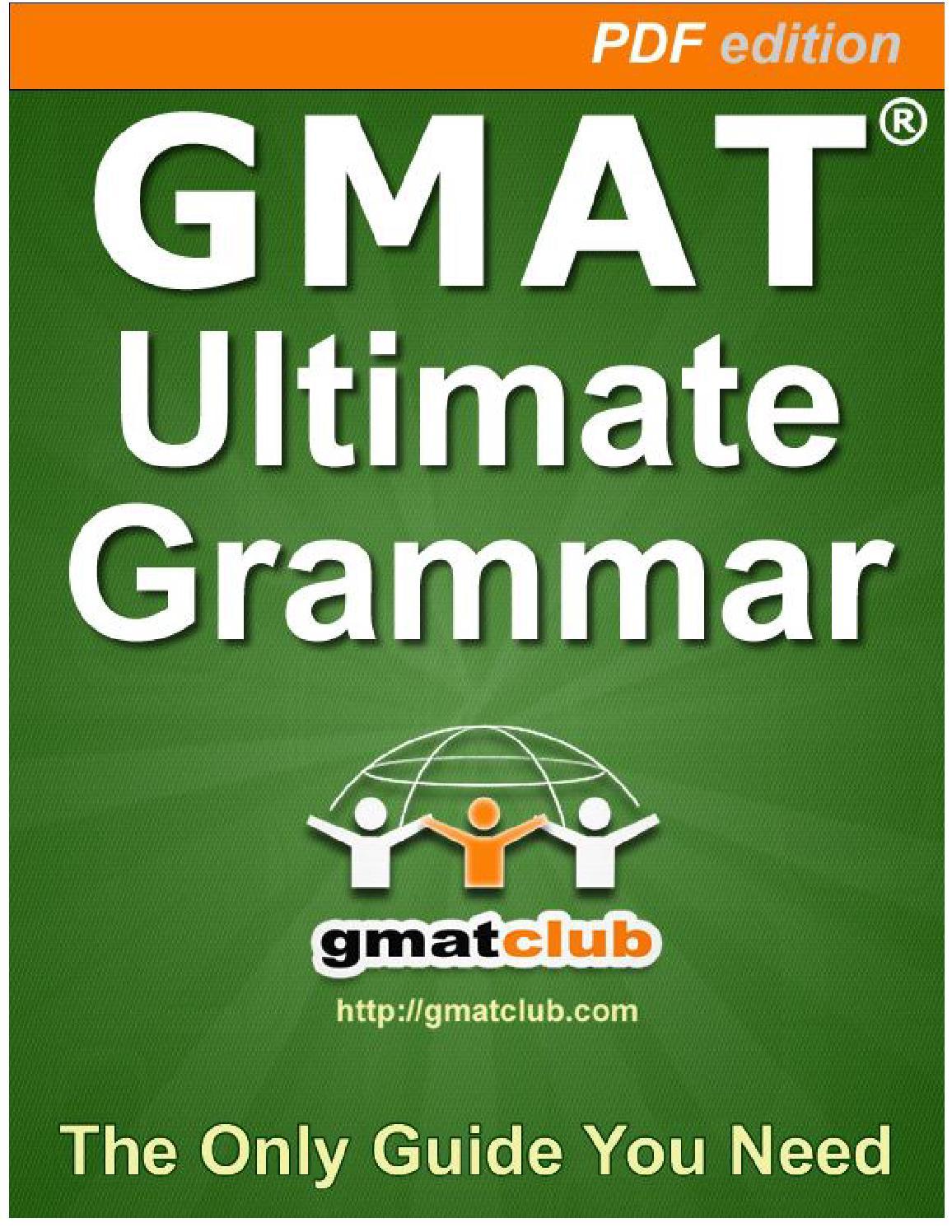 GMAT Advanced Grammer Flashcards By GMATClub by David Martin