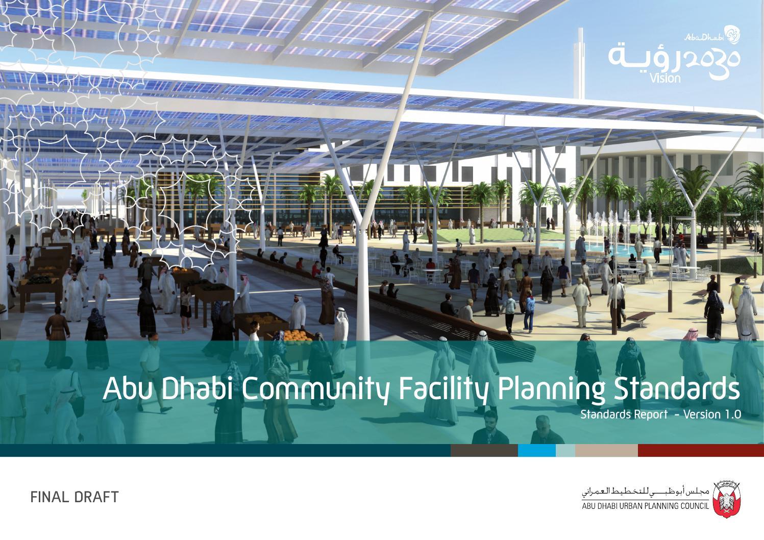 Abu Dhabi Community Facility Planning Standards En By Taras