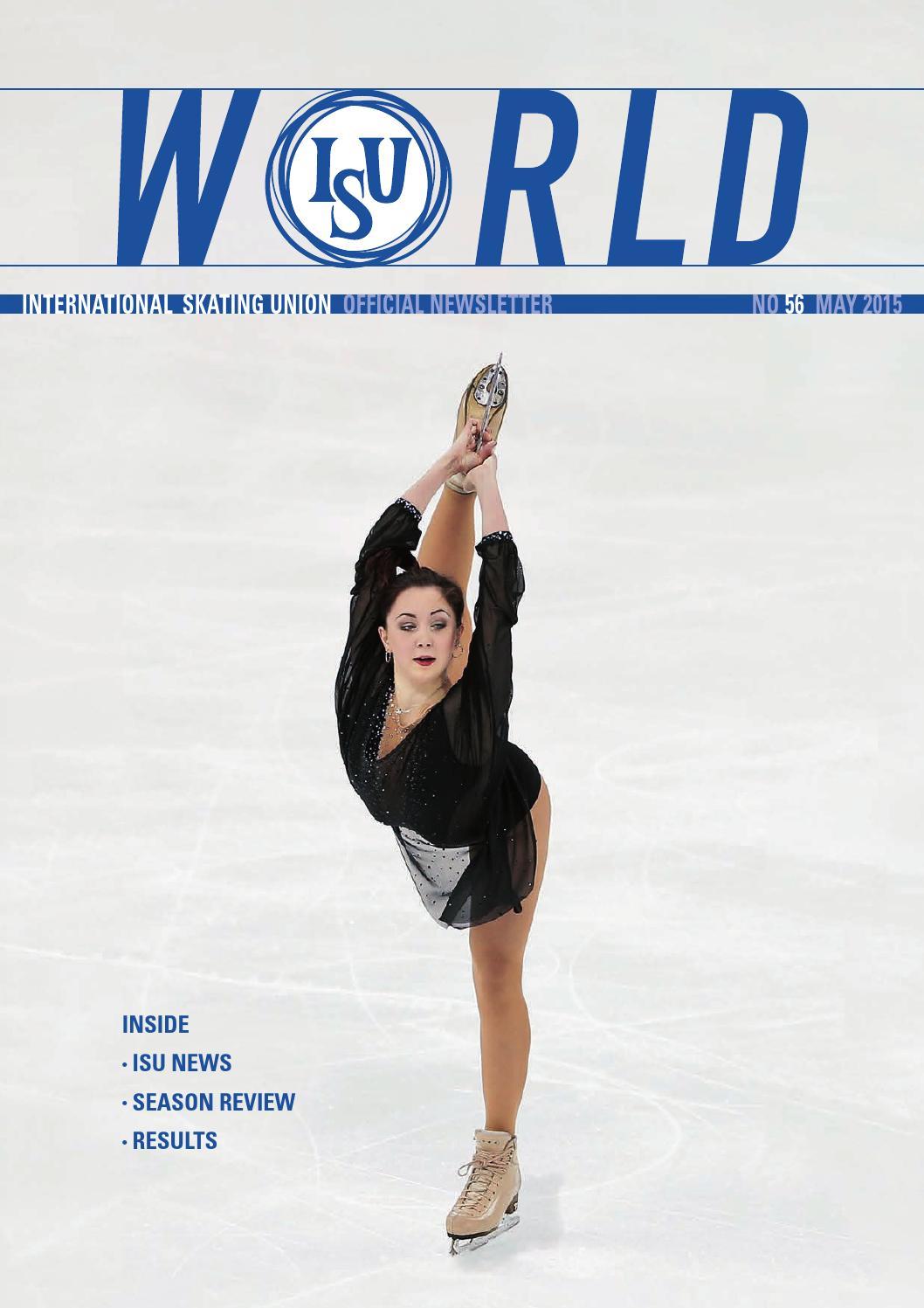ISU World No  56 May 2015 by International Skating Union - issuu