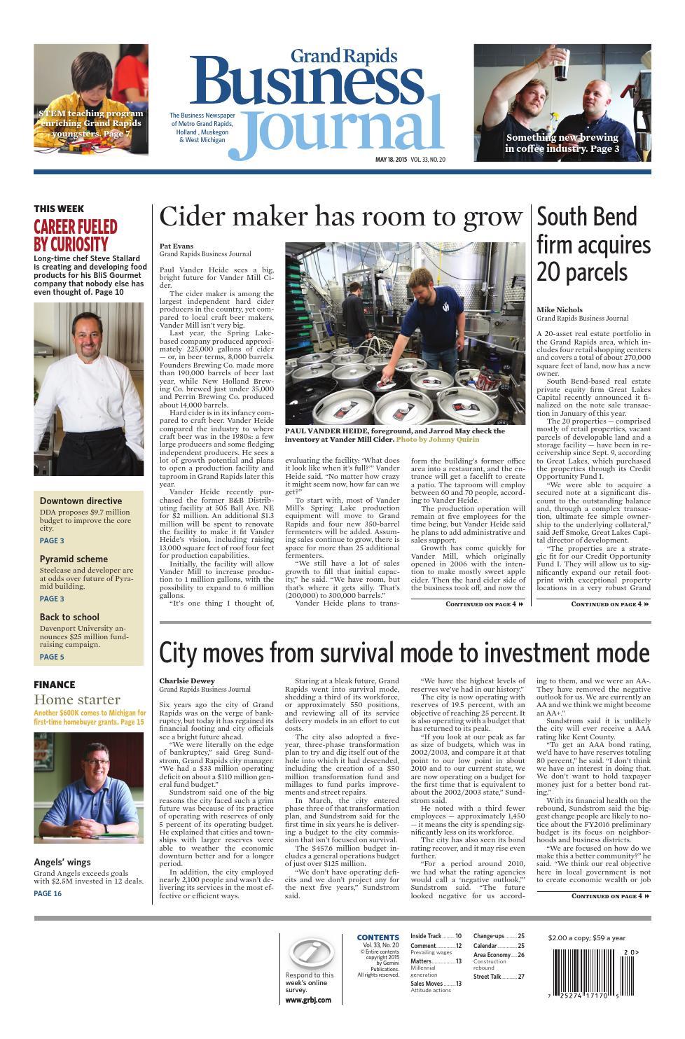 b6c8f61eeb Grand Rapids Business Journal - May 18