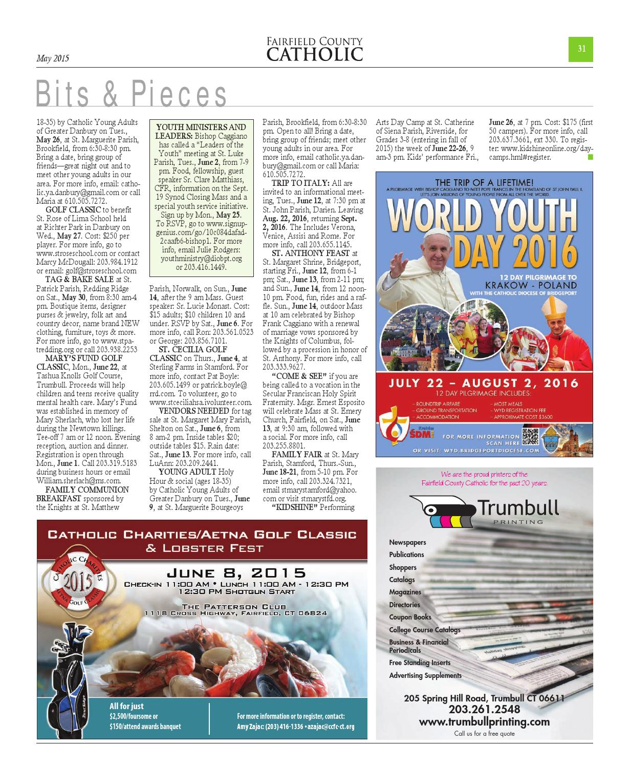 Fairfield County Catholic May 2015 by The Diocese of Bridgeport - issuu