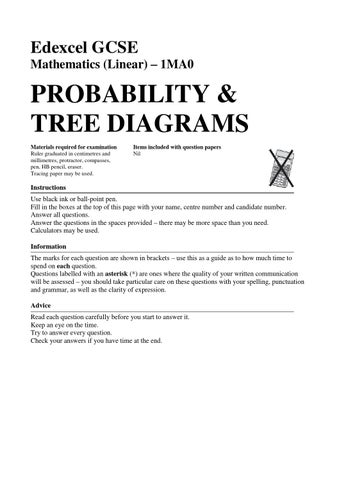 33 probability tree diagrams by mr burgess issuu edexcel gcse mathematics linear 1ma0 probability tree diagrams ccuart Gallery