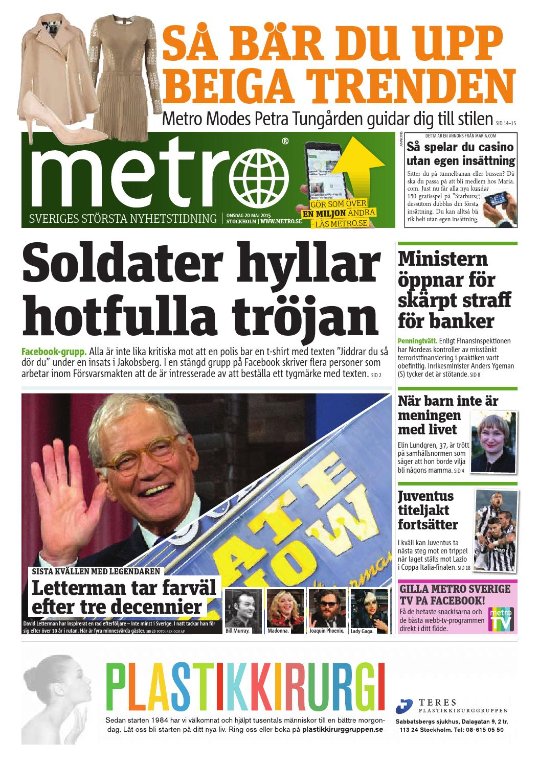 20150520 se stockholm by Metro Sweden - issuu 775cbf19722c8