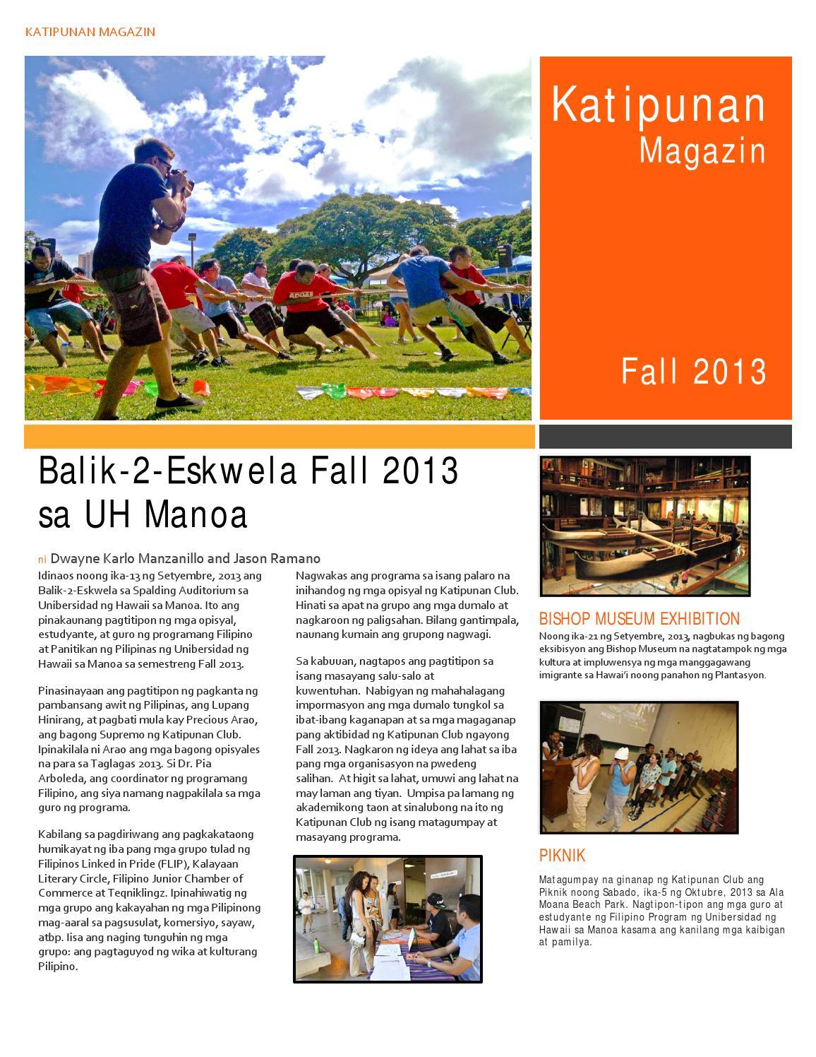 Katipunan magazin fall 2013 by Kalayaan Literary Circle - issuu
