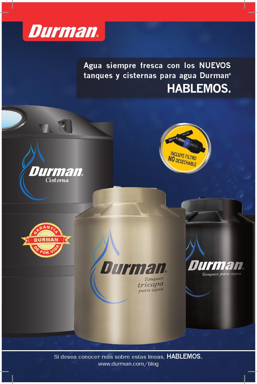 Tanques y cisternas durman by durman issuu for Tanque de 5000 litros