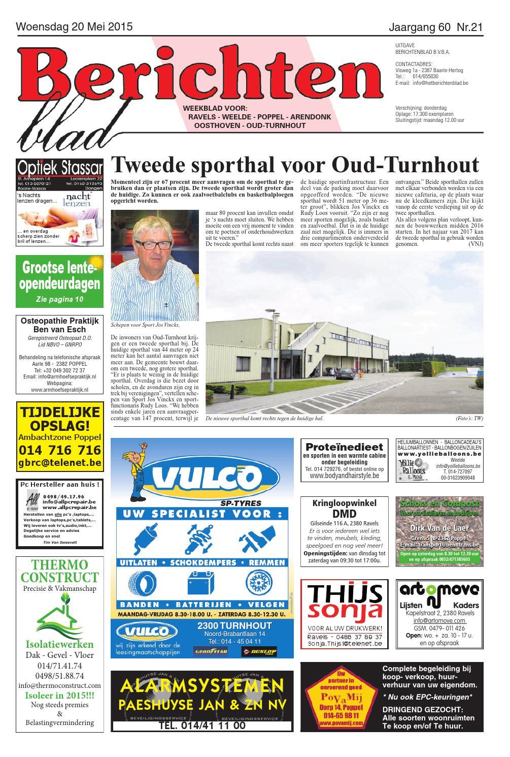 Berichtenblad 20 05 2015 By Uitgeverij Em De Jong Issuu