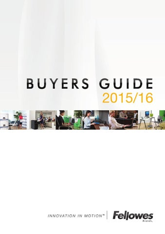 Fellowes Buyers Guide 2015/16 by Tim Jones - issuu