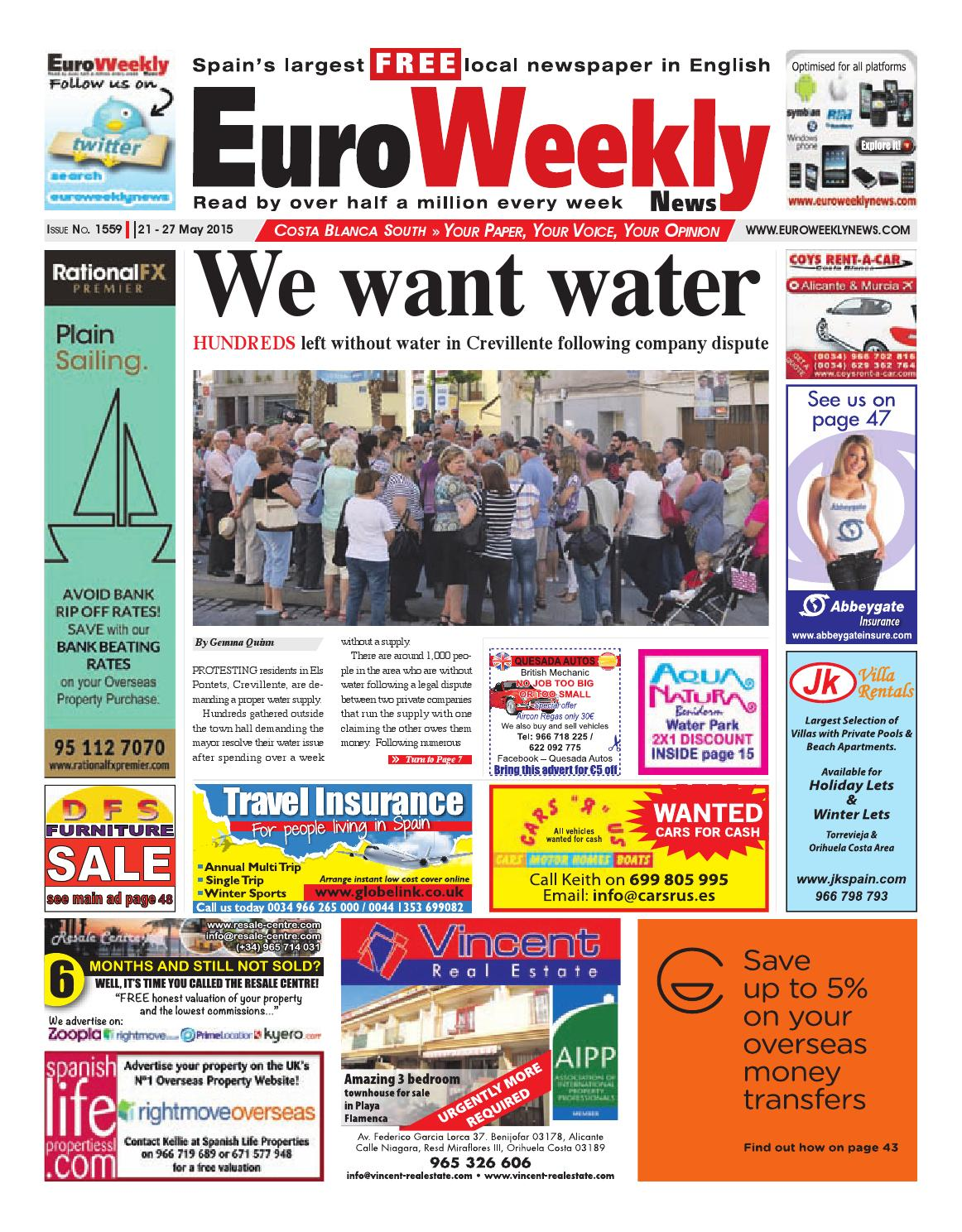 Euro weekly news costa blanca south 21 27 may 2015 issue 1559 by euro weekly news costa blanca south 21 27 may 2015 issue 1559 by euro weekly news media sa issuu fandeluxe Choice Image