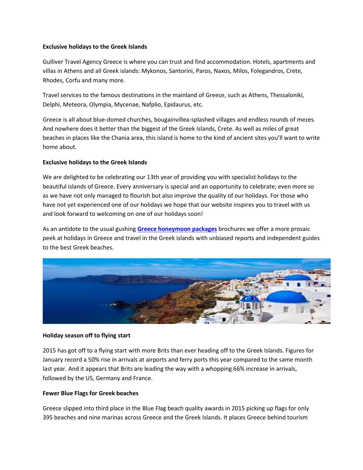 Exclusive holidays to the greek islands by island tours - issuu