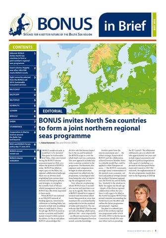 BONUS in Brief, May 2014 by BONUS EEIG - issuu