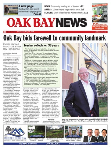 Oak Bay News May 20 2015 By Black Press Media Group Issuu